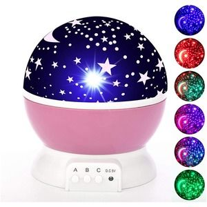 Dream Rotating Projection Lamp Pink